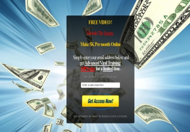 custom design Video Squeeze Pages or landing page for your WORDPRESS or any other site just