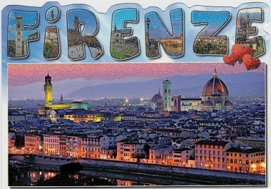 send a postcard to you or to a friend from Florence Italy with your personal message handwritten in English or Italian