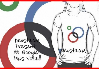 give you 100 Google one plus to your site, youtbe video or vote any page