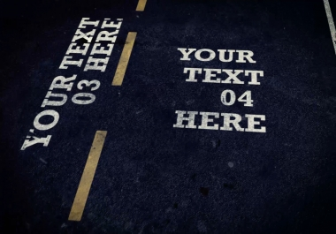 within 24hrs create this ROAD automobile text animation video for your website product service