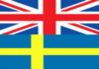 translate any document from English to Swedish and vice versa