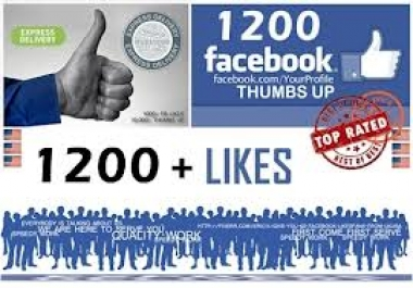 give you GENUINE 1200+ Facebook Likes to your Fan Pages within 12 hours★★Steroids★★