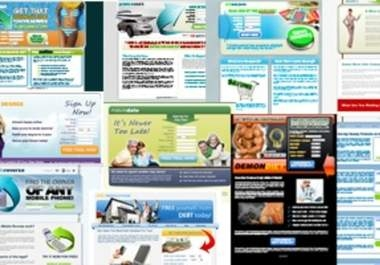 give You 92 High Quality CPA Landing Pages Squeeze Pages Multiple Styles and Layouts
