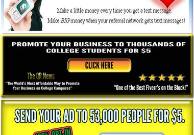 promote your business in an email to my optin list of over fifty thousand people