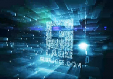 create this glitchy binaryCODE promotional intro video with your text or logo as a video opener animation for your business