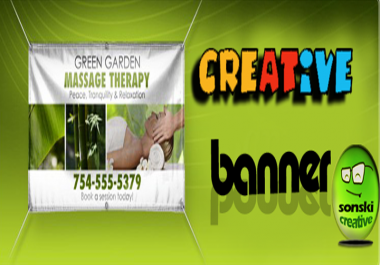 design a Creative Ad or Web BANNER in 5 Sizes You Need To Promote Your Business