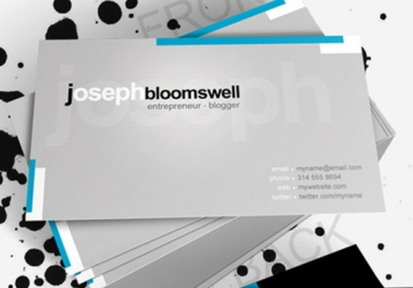 design an AMAZING double sided business card according to your specifications