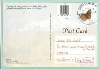 send a post card anywhere in the world to your friend