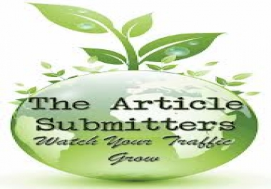 transform your article to PDF and submit it to doc sharing sites