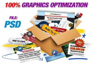 give you 60 modules of graphics for websites, squeeze pages, web templates-optimized, buttons purchase, video skins, minisites, file psd