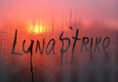 write your text on a window with raindrops