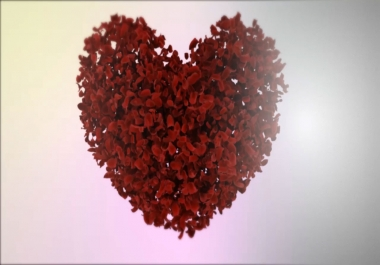 create for a Valentines Heart Intro Animation as your Greeting video