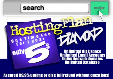 give you the best Unlimited website hosting for 1 year for only for