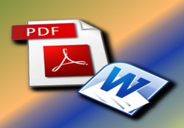 rewrite your pdf file into word document