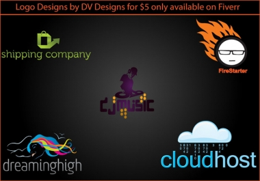 design 2 logos each in 3 different colours for your project/company