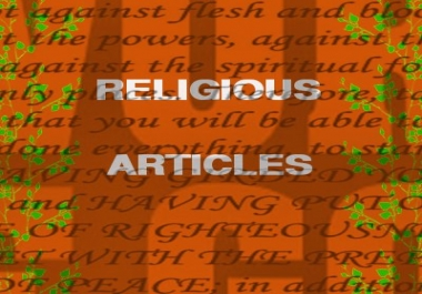 write religious articles
