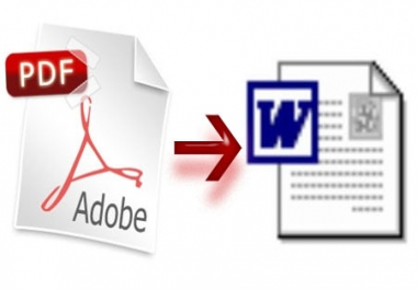 convert from a pdf file to a PERFECT office file