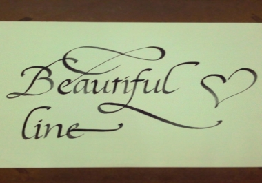 write any message in calligraphy