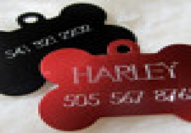 create a Pet ID tag with free engraving for your dog