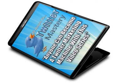 give you a 40 hr video tutorial course that anyone can become a Twitter marketing machine