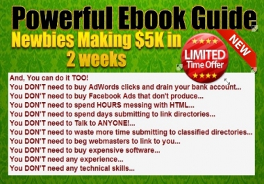 Show You How Newbies Making 5K dollar in 2 weeks with One Symple Website
