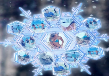 create a personalised MAGiC SNOWFLAKE with your photos