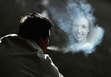 turn your picture into a cloud of vapour and smoke