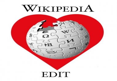 edit your wikipedia page