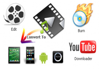 convert any type VIDEO into any format and low quality videos into high quality and professinally edit your video