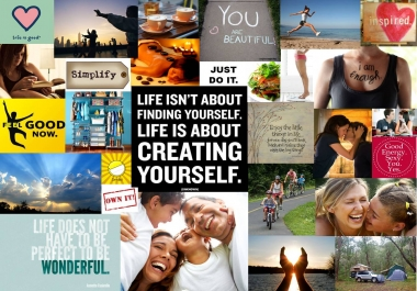 create a unique and powerful Vision Board for you