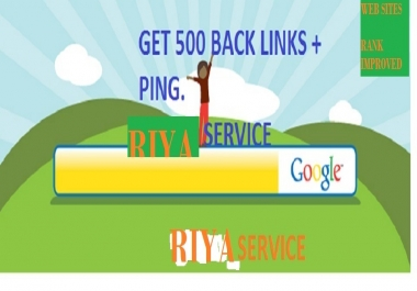 Add 500 Back Links + Ping To Your Web Site