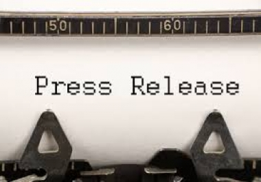 write High Quality 400 word Press Release and submit to 50+ PR Directories Including 3 Premium Services Like SB Wire,PR.co,MyPRgenie.etc