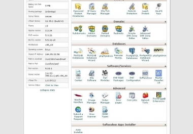 provide 5 years Unlimited Web Hosting one time payment with cPanel and Softaculous