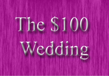 tell you how to have a $100 wedding instant download