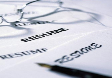Write you a Dazzling resume-now bag any job!