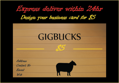 design an Outstanding/Unique/ Double side business card