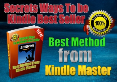 Tell You Secrets Ways To be kindle BEST Seller in 7 days