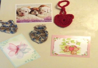 mail a crocheted heart and message for you