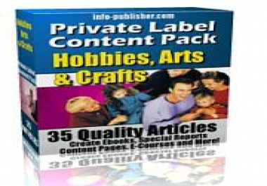 give you PLR Articles on Hobbies,Arts & Crafts