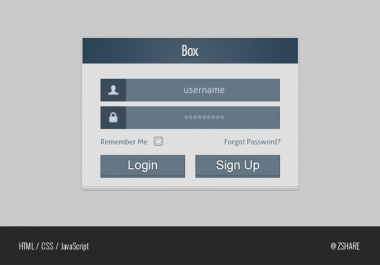 code html, css, js, php your psd forms