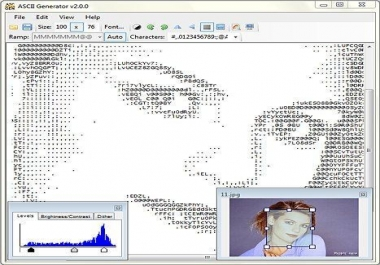 convert your any 3 of your images or photos into high quality text-art that accurately represents the original image