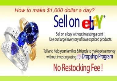 give you over 500 eBay friendly wholesalers list to drop shipping on eBay