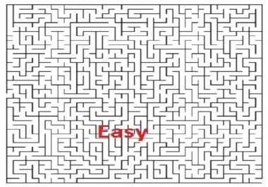 create 15 unique maze puzzles easy medium hard