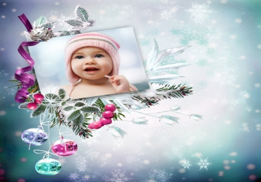 make unique Christmas card with your photo