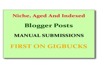 write 3 articles and submit them to Niche, Aged and Indexed Blogger web 2.0