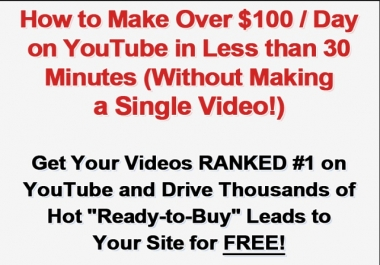 give you YOUTUBE TRAFFIC STORM generation & Domination guide