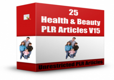 give you 25 Health & Beauty Articles V 15