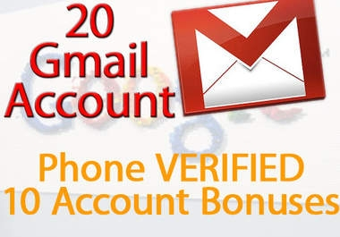 ill give you 20 phone VERIFIED gmail account on unique ip