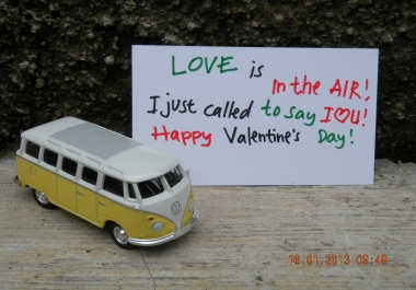 write your valentine poem with my W Combi