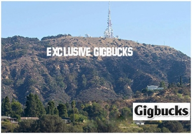 put your name or whatever phrase you want on the hollywood sign